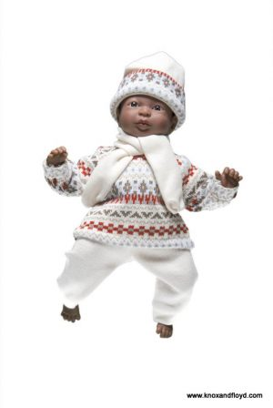 Ralf Smith Doll - Tim 29cm Soft Body African Boy in Cream/Aztec