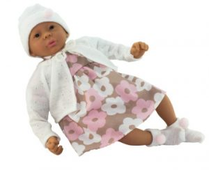Ralf Smith Doll - Betty 45cm Soft Body Doll in Floral Dress & Socks