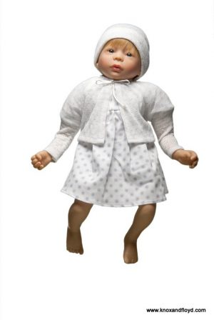 Ralf Smith Doll - Betty 45cm Soft Body with Pink Dress & White Cardigan