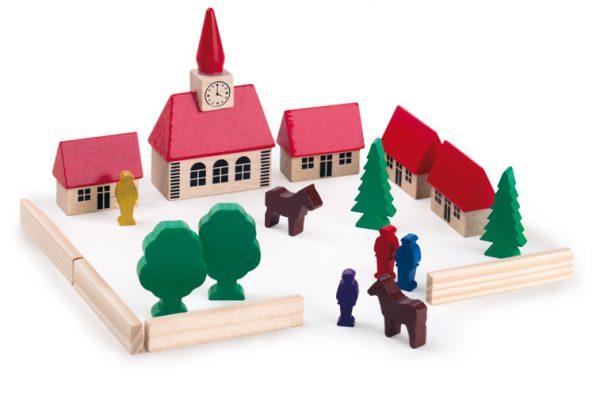 Wooden Block set - village church