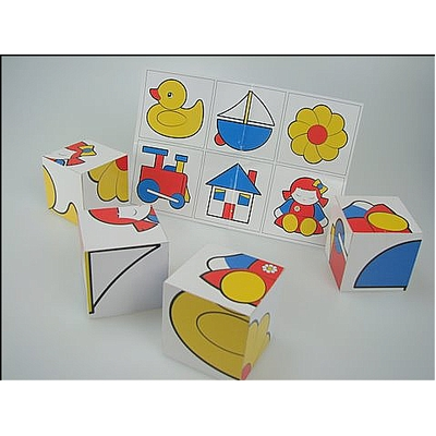 PICTURE  BLOCK PUZZLE - 4 PIECES