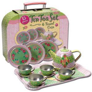 Schylling Teaset - Pink/Green Floral Design