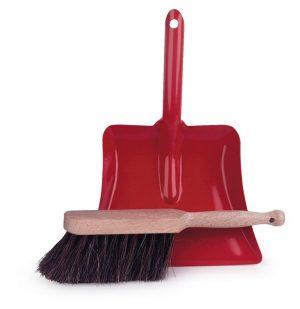 Egmont Dustpan & Brush - Red