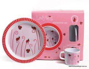 Egmont Melamine Dinner Set - Ladybug