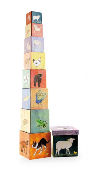 Egmont Pyramid/Stacking Cubes - 9 Piece Farm