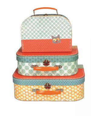 Egmont Suitcase Set of 3 - Flower Cat