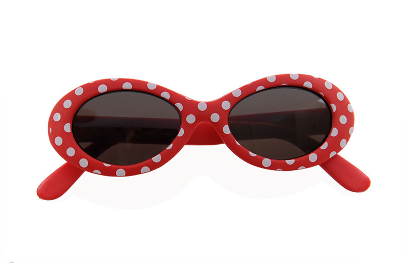 Sunglasses - Baby Red with White Spots - NEW