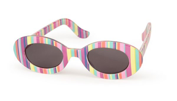 Sunglasses - Striped Pink