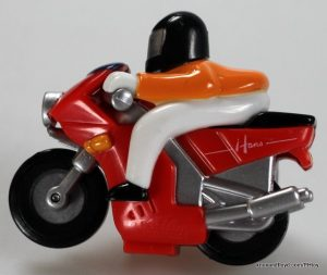 Wind-up motor cycle & rider