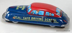 Tin car, student driver