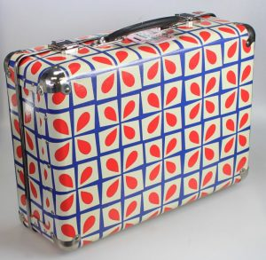 Retro Floral Large Suitcase