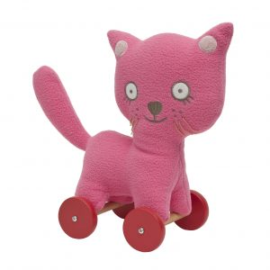 Trousselier Cat on Wheels Fuchsia - 24cm