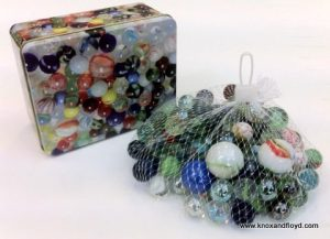 MARBLES - TINS OF 800 GRAM WEIGHT