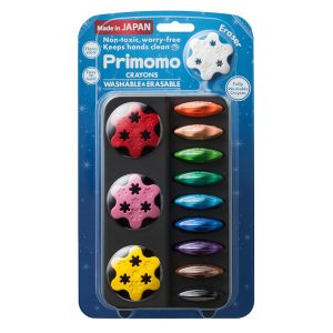 Primomo Non-Toxic Washable Crayon Flower 12 Colours