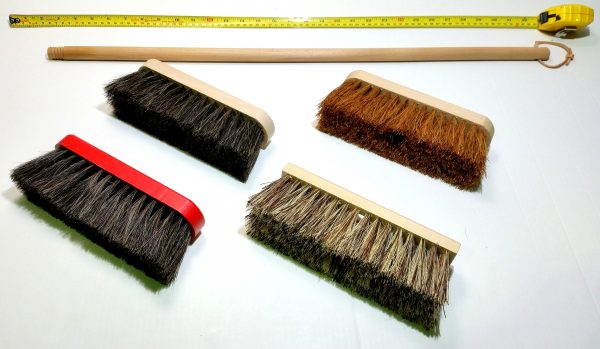 broom soft red & black 80cm